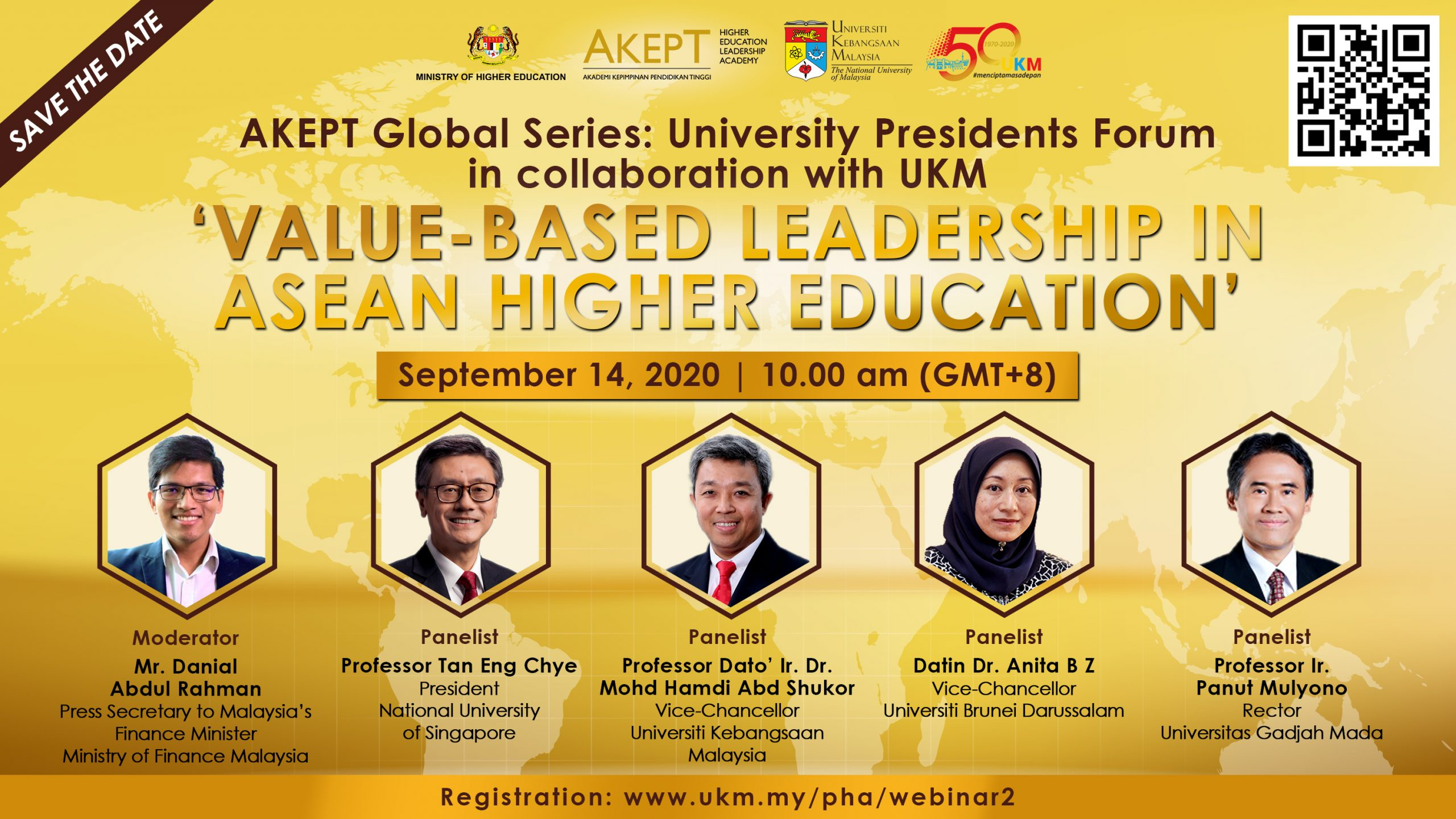 Invitation to AKEPT Global Series in Collaboration with UKM Webinar 2