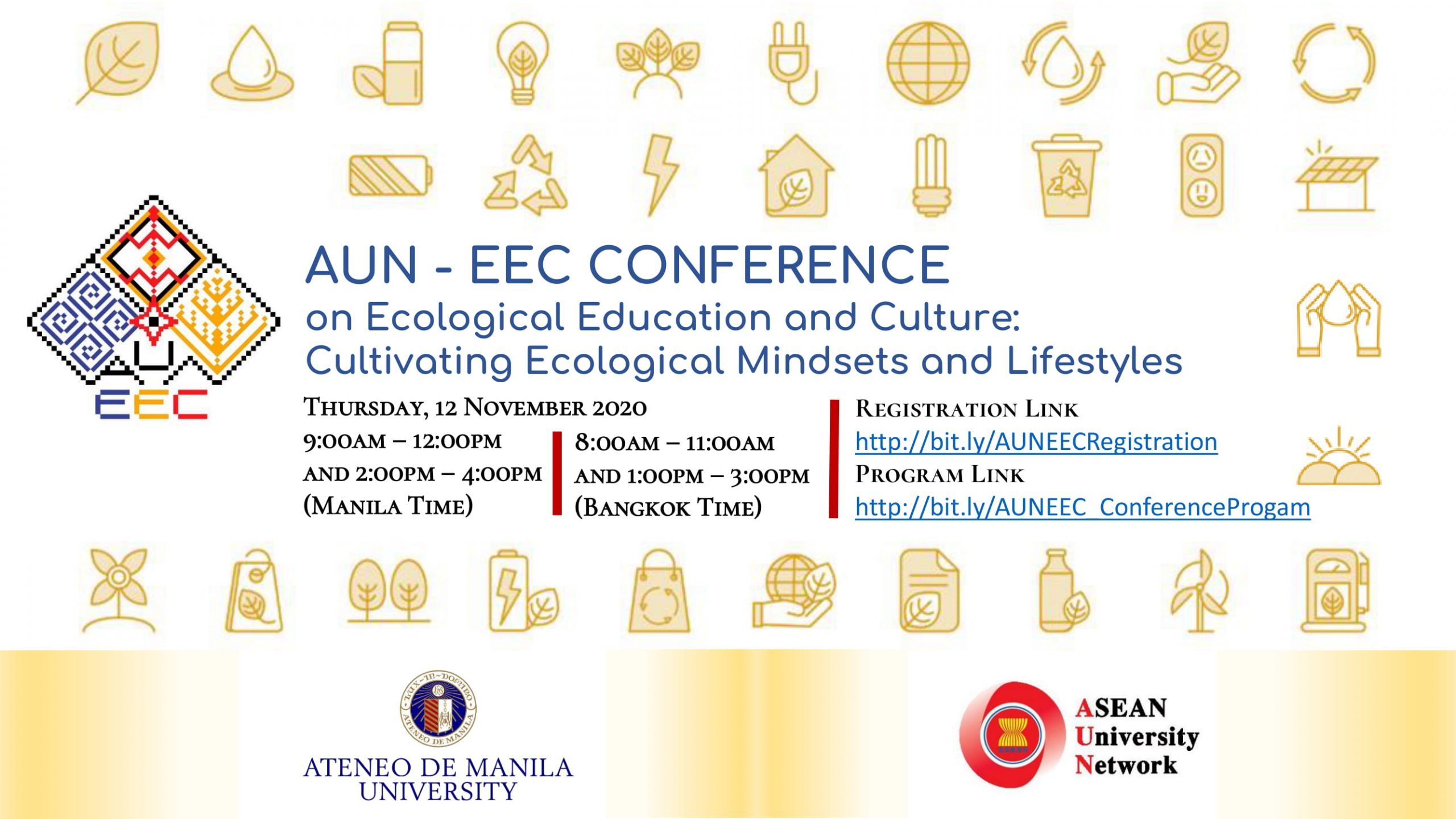 Save-the-Dates for the AUN-EEC Conference 2020 (Online)