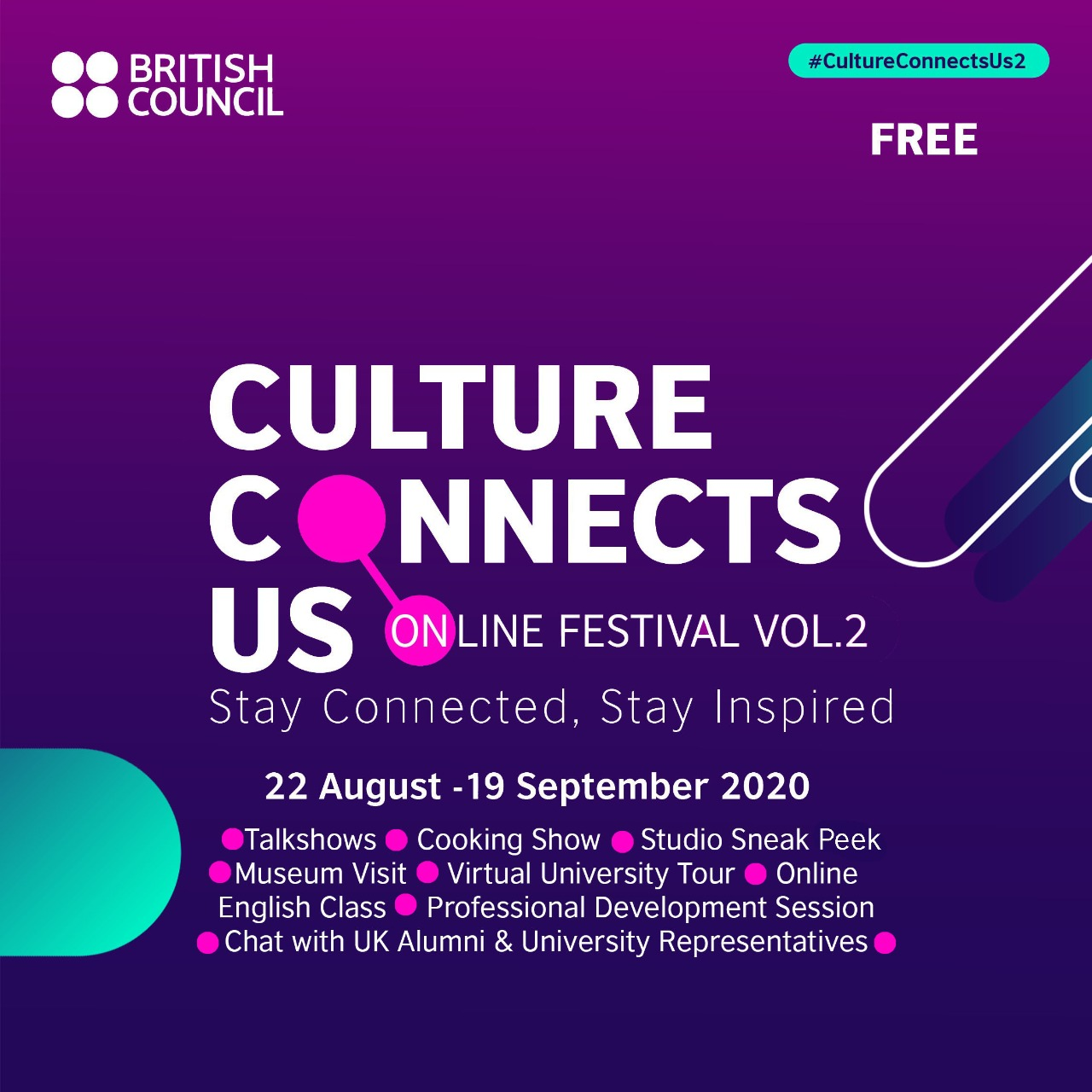 British Council Culture Connects Us Online Festival Volume 2
