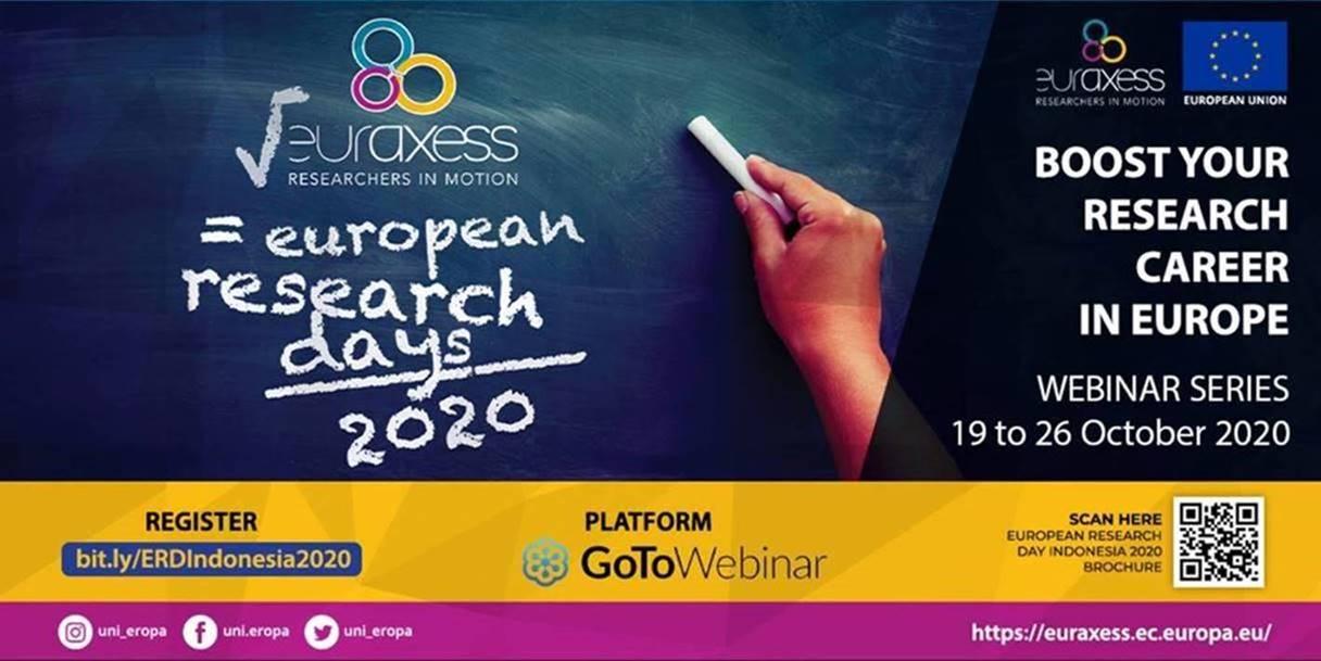 European Research Days (ERD) 2020, 19 October -26 October 2020