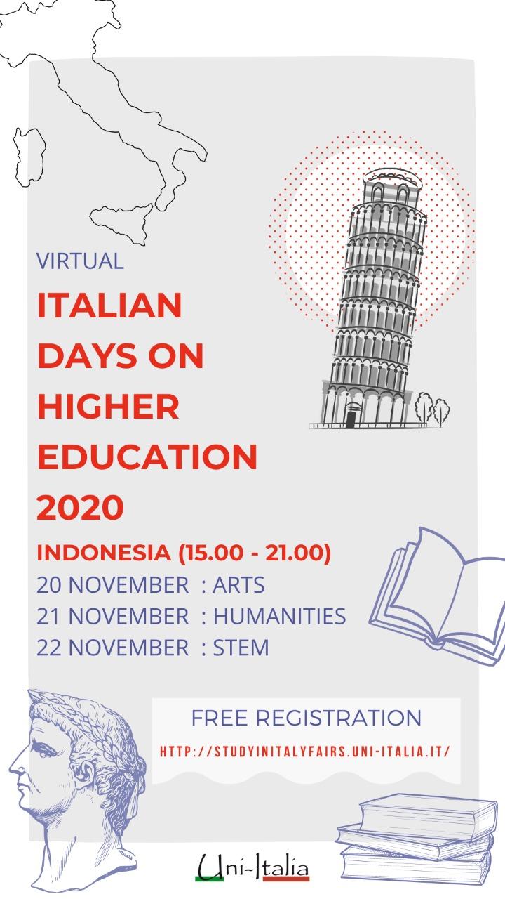 Invitation to Virtual Italian Days on Higher Education (VIDOHE) 2020