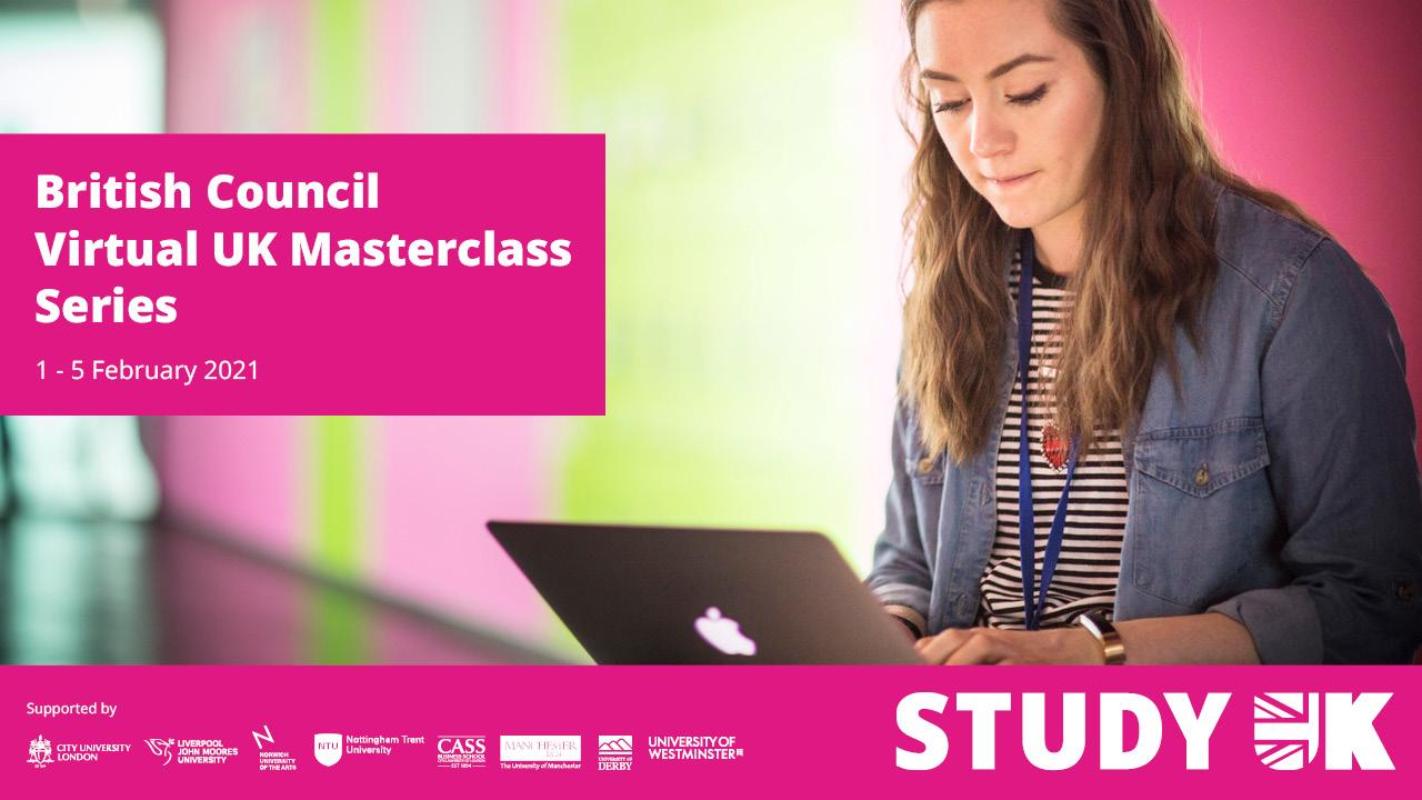 [Invitation] British Council Virtual UK Masterclass Series, 1- 5 February 2021