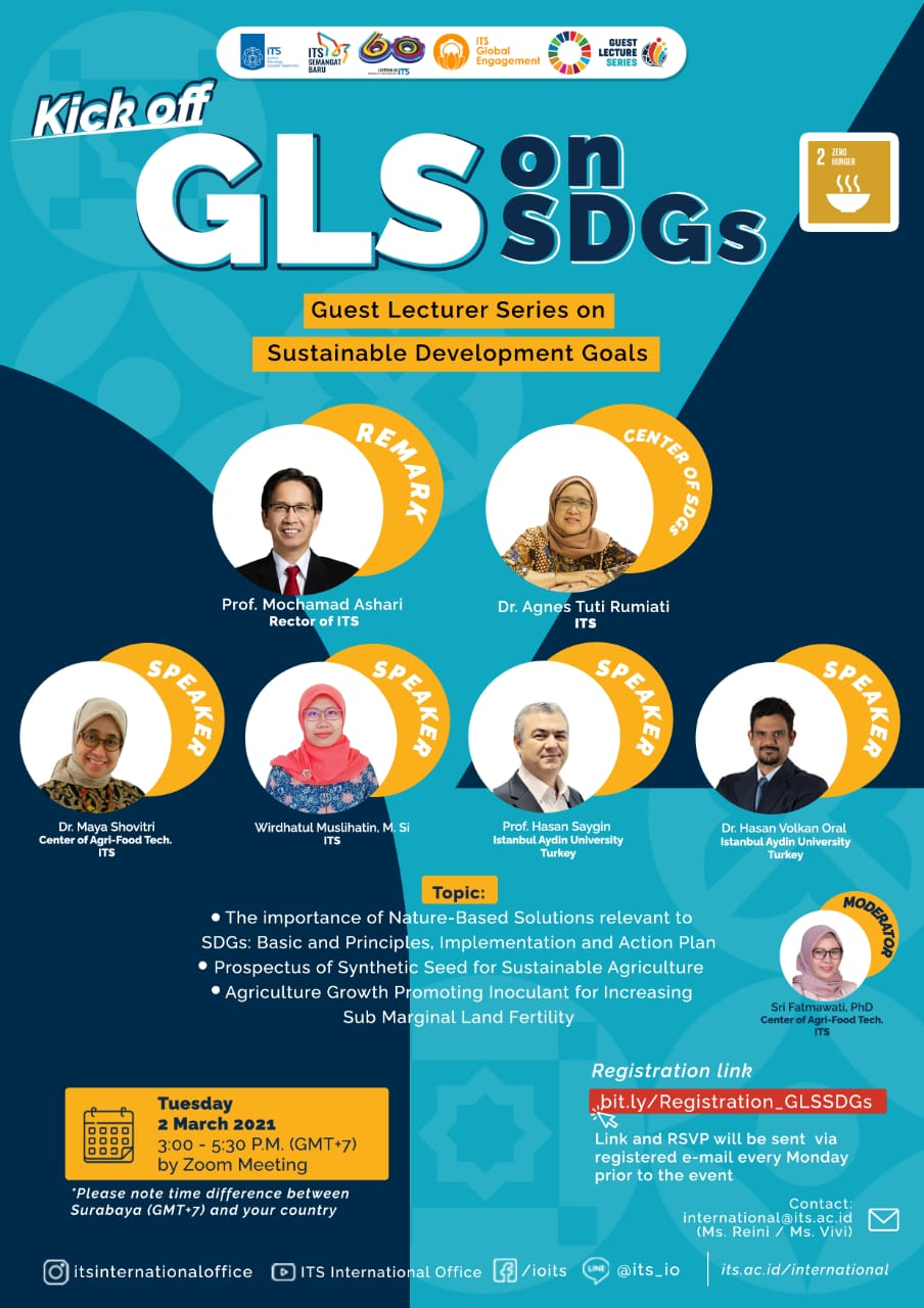 Call for Participants – Guest Lecture Series on Sustainable Development Goals (GLS on SDGs) at ITS Surabaya