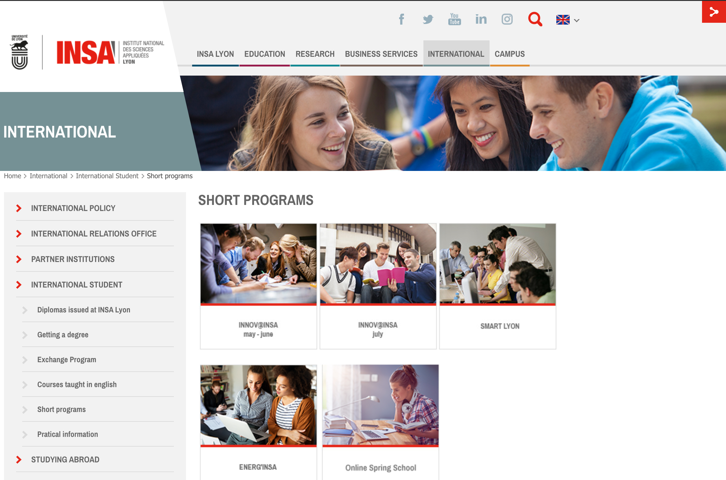 INSA Lyon 2021′ summer programs