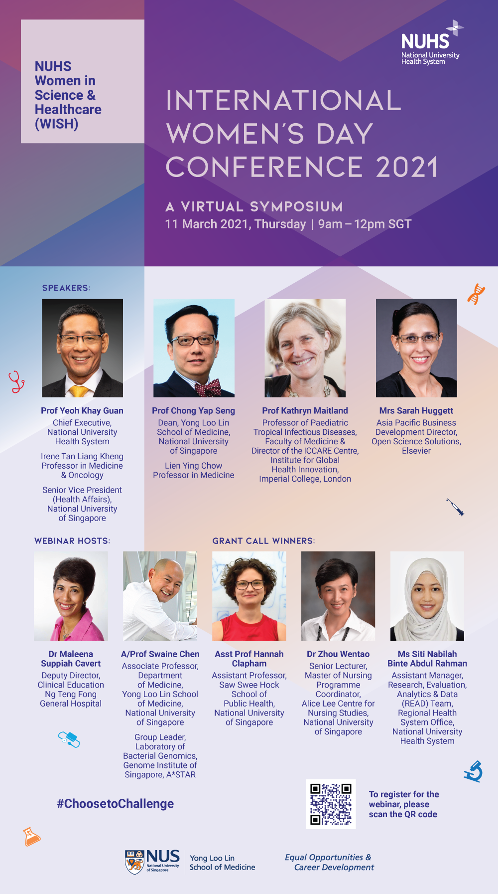 WISH & EOCD International Women's Day Conference 2021 | 11th March 2021 (Thursday), 9am-12pm
