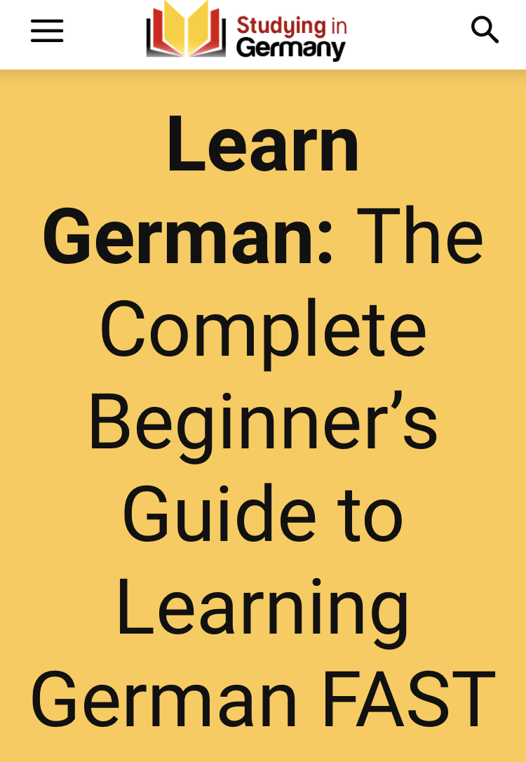 Learn German: The Complete Beginner's Guide to Learning German FAST