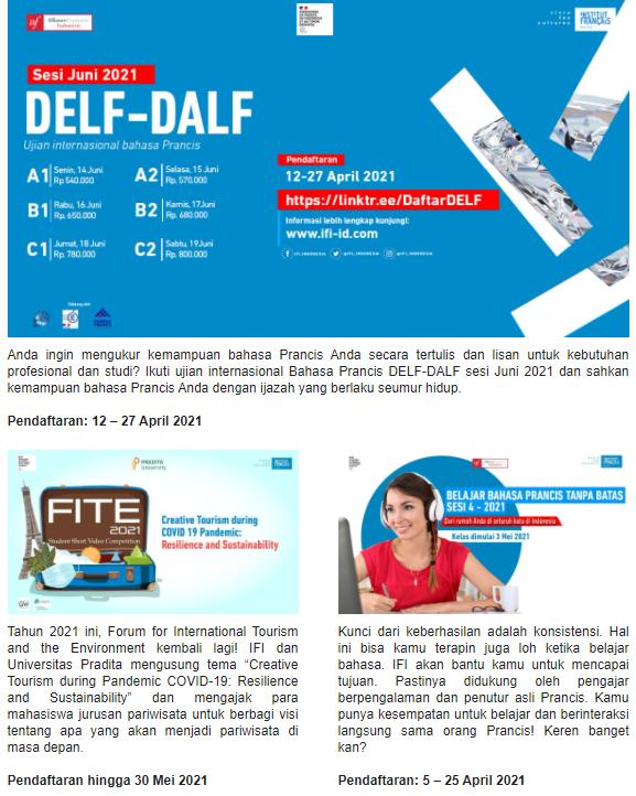 Buktikan kemampuan bahasa Prancismu dengan Ijazah DELF-DALF!