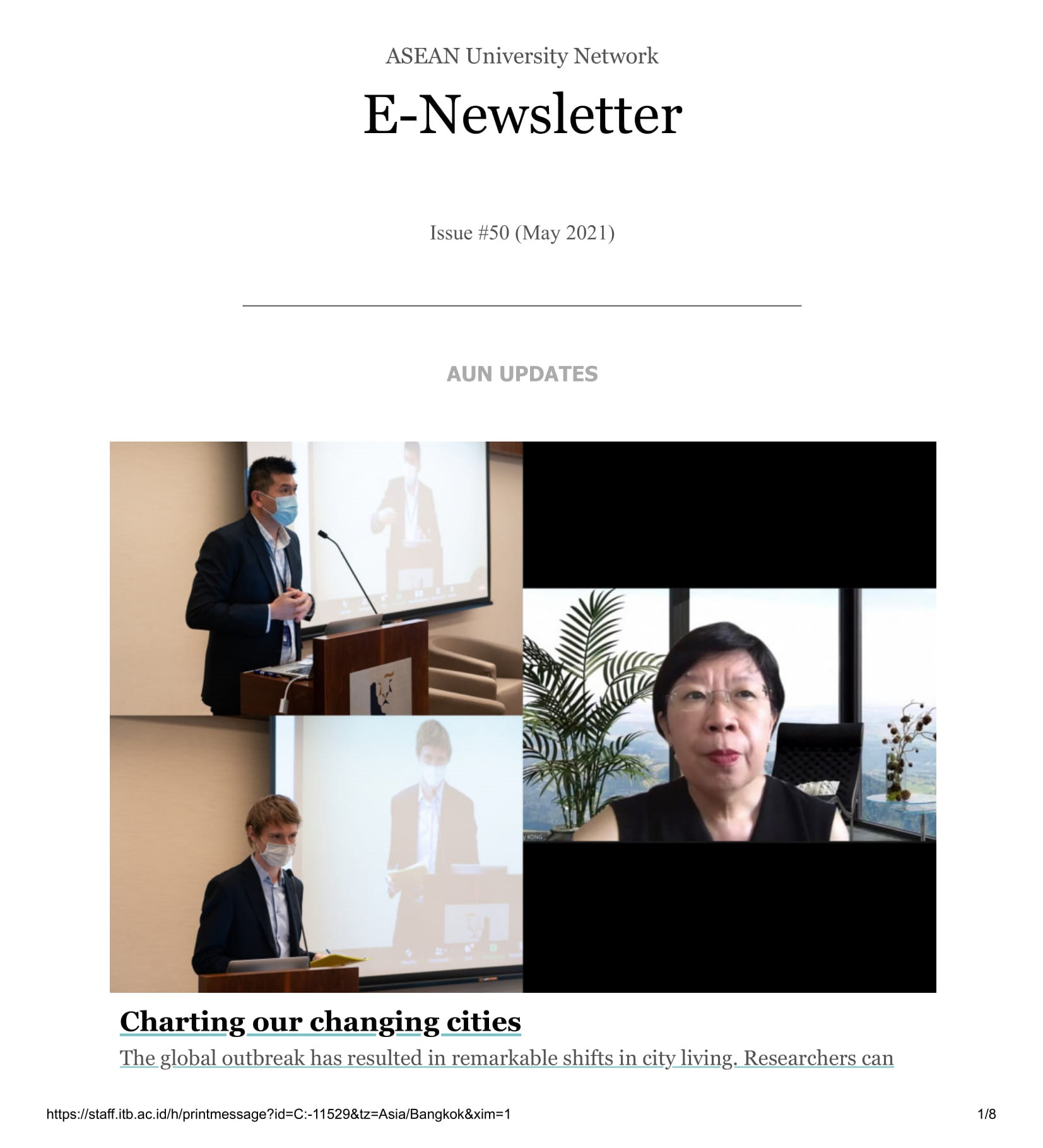 AUN E-Newsletter Issue 50