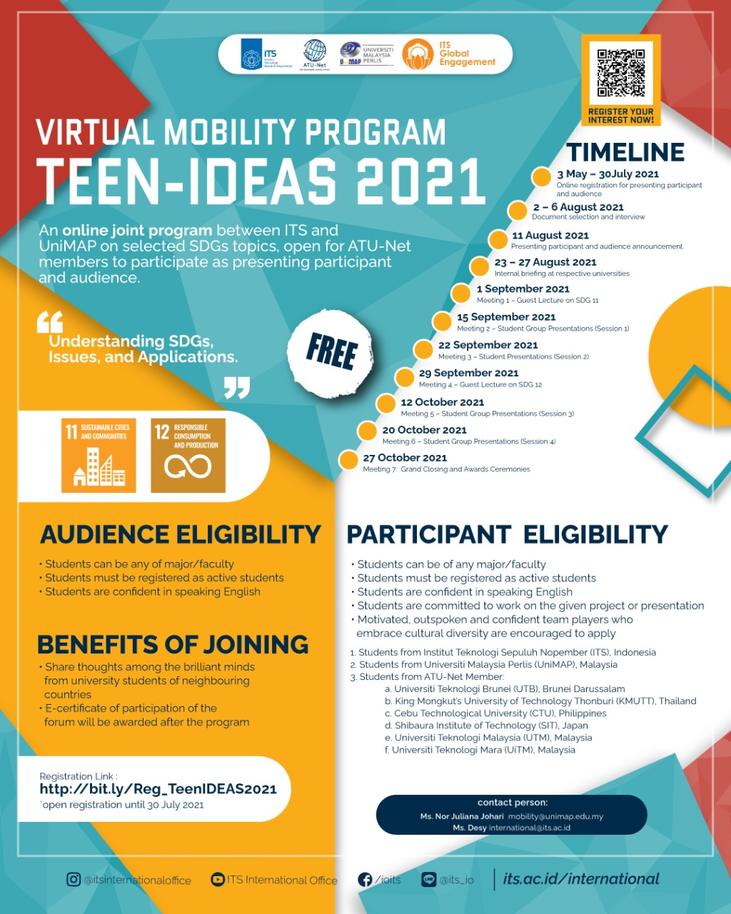 Invitation to Teen-IDEAS 2021 Virtual Mobility Programme