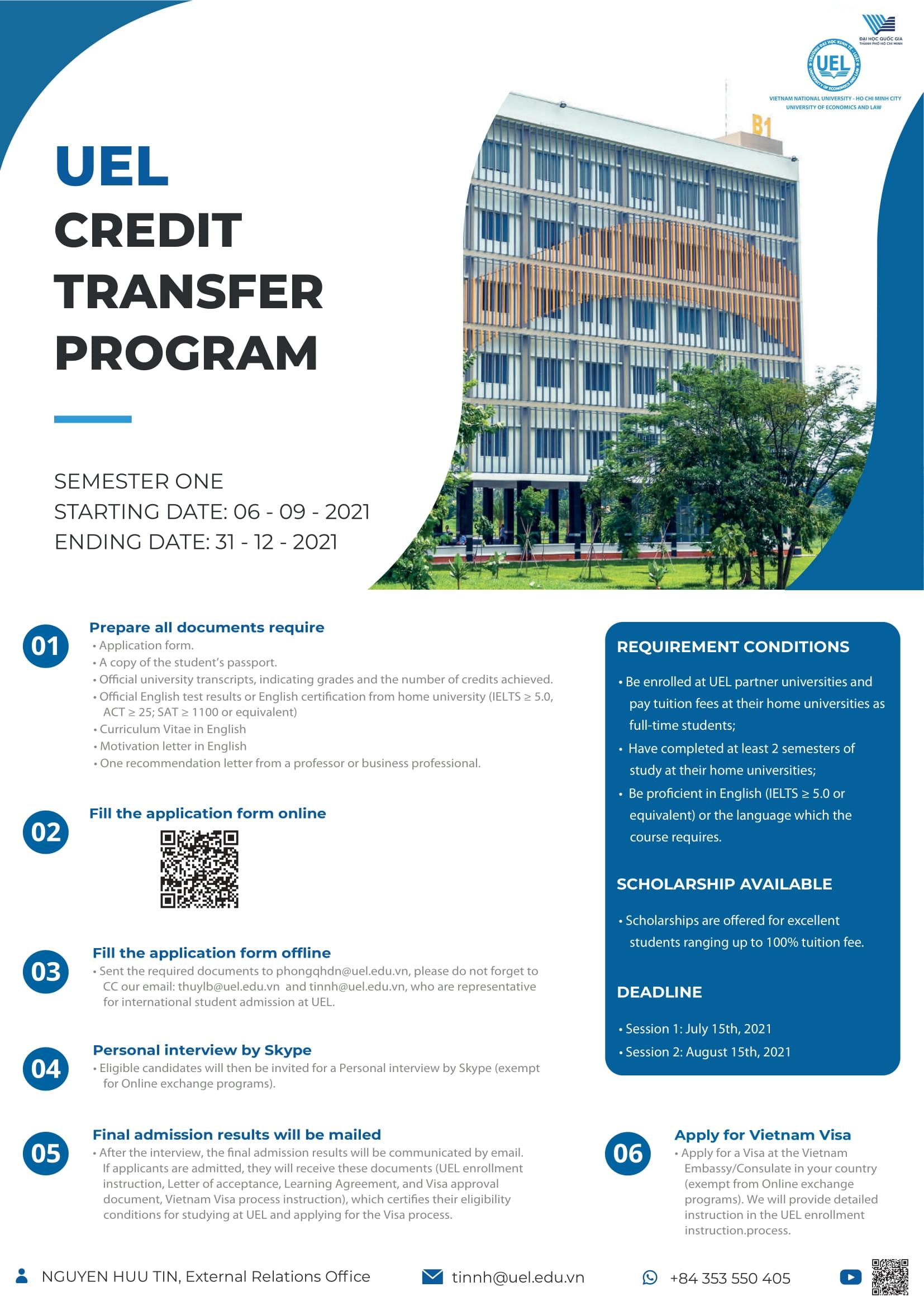 Online Semester Exchange at University of Economics and Law (UEL Credit Transfer Program)