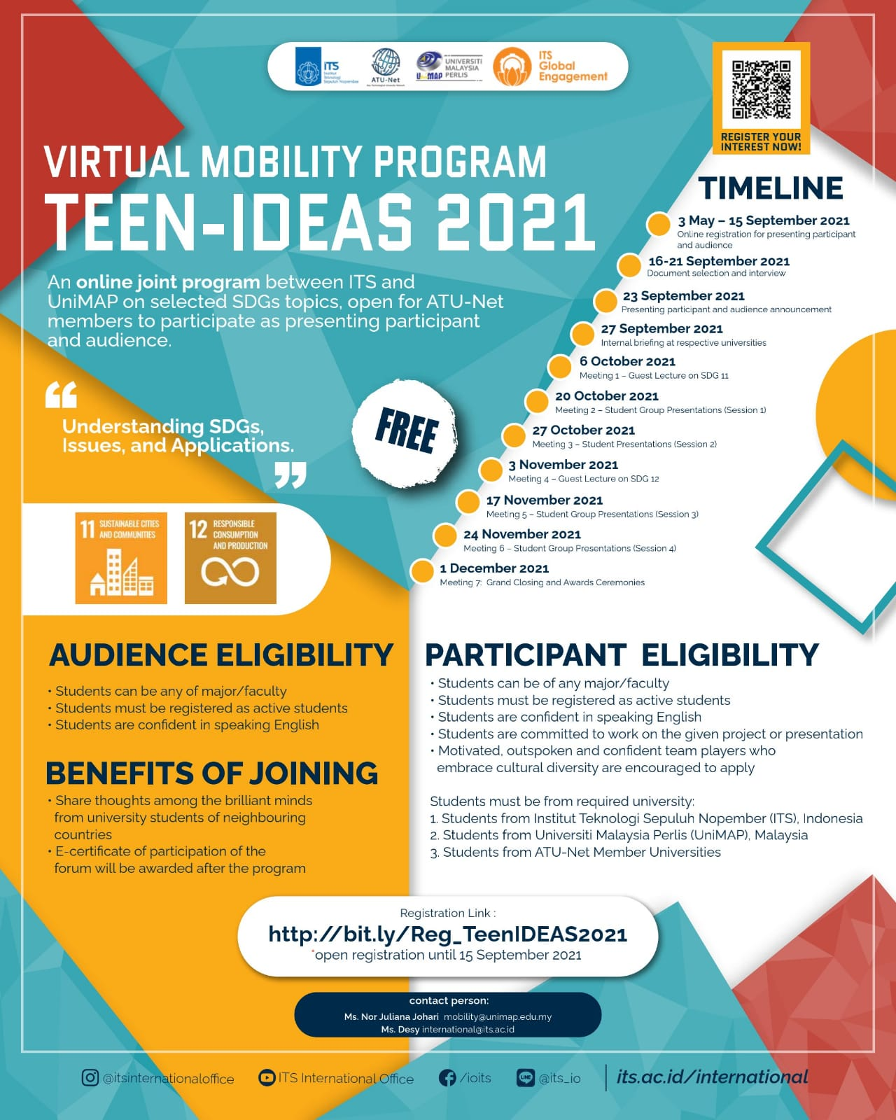 Teen-IDEAS 2021 > Extended Registration Deadline and Programme Dates