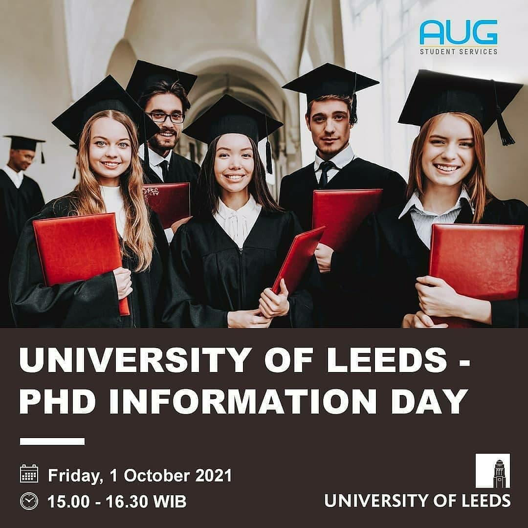 University of Leeds – PhD Information Day (1 October 2021)
